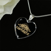 Image of Golden Namaste Lotus Flower Heart Pendant Necklace - Lyghtt