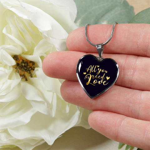 All You Need Is Love Heart Pendant Necklace - Lyghtt