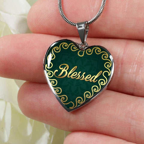 Blessed Heart Style Charm Necklace - Lyghtt