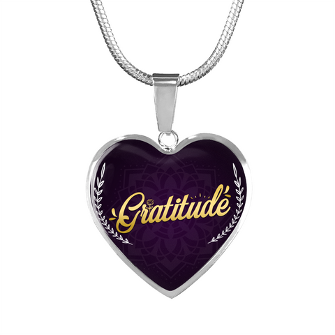 Gratitude Heart Style Gold Charm Necklace - Lyghtt