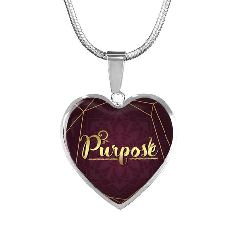 purpose heart style words of affirmation charm necklace, omfinite gift idea