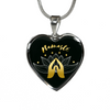 Image of Namaste with Praying Hand Heart Pendant Necklace - Lyghtt
