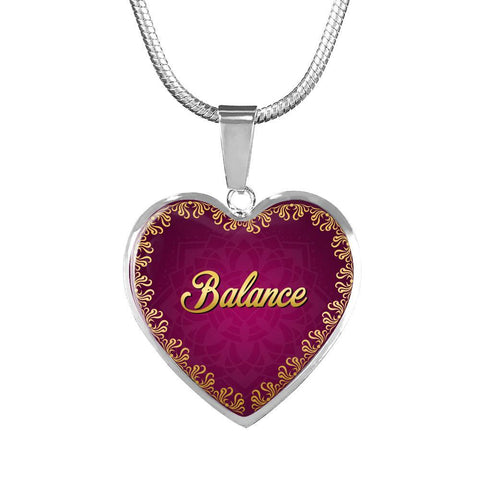 Balance Heart Style Charm Necklace - Lyghtt