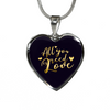 Image of All You Need Is Love Heart Pendant Necklace - Lyghtt
