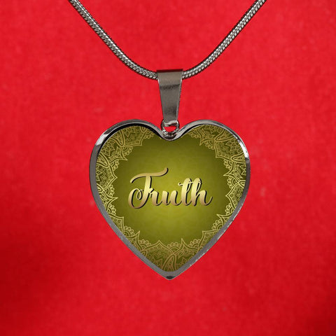 Truth Heart Style Gold and Silver Necklace