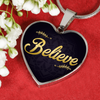 Image of Believe Heart Style Charm Necklace - Lyghtt