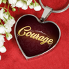 Image of Courage Heart Style Gold Charm Necklace - Lyghtt