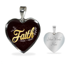 Image of Faith Heart Style Charm Necklace - Lyghtt