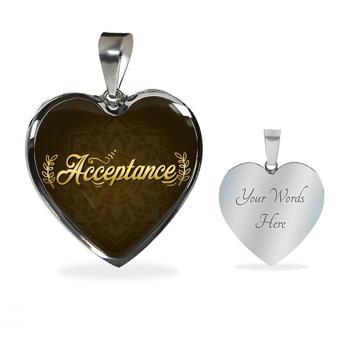 Acceptance Heart Style Necklace - Lyghtt