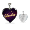 Image of Freedom Heart Style Gold Charm Necklace - Lyghtt