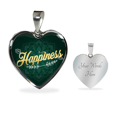 Happiness Heart Style Gold Charm Necklace - Lyghtt