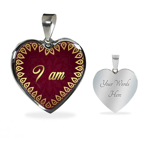 I Am Heart Style Charm Necklace - Lyghtt