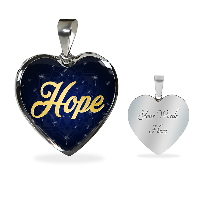 Hope Heart Style Gold Charm Necklace - Lyghtt
