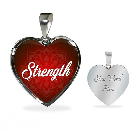 Strength Heart Style Charm Necklace