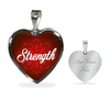 Image of Strength Heart Style Charm Necklace