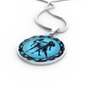 Image of Gemini Blue Zodiac Sign Pendant Necklace - Lyghtt