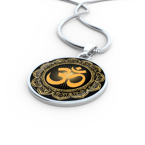 Golden Om Symbol Pendant Necklace - Lyghtt