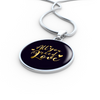 Image of All You Need Is Love Circle Charm Necklace - Lyghtt