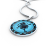 Image of Leo Blue Zodiac Sign Pendant Charm Necklace - Lyghtt