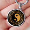 Image of Black & Gold Ying Yang Charm Necklace - Lyghtt