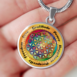 Affirmation Flower of Life Pendant Necklace