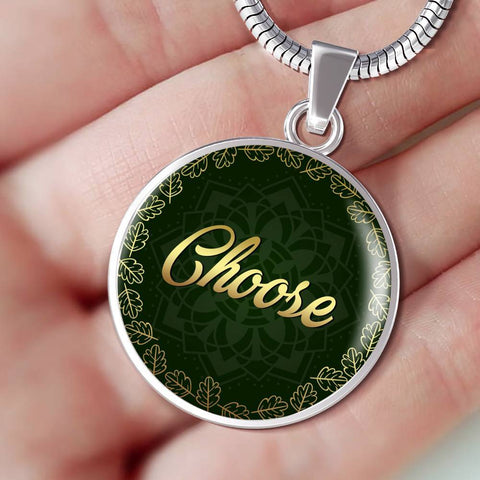 Choose Circle Style Charm Necklace - Lyghtt