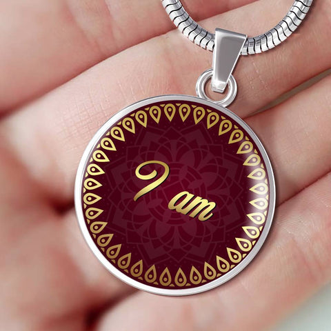 I Am Circle Style Charm Necklace - Lyghtt