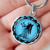 Image of Virgo Blue Zodiac Sign Pendant Necklace - Lyghtt