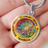 Image of Affirmation Flower of Life Pendant Necklace - Lyghtt