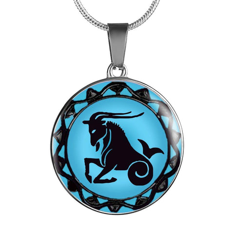 Capricorn Blue Zodiac Sign Pendant Necklace - Lyghtt
