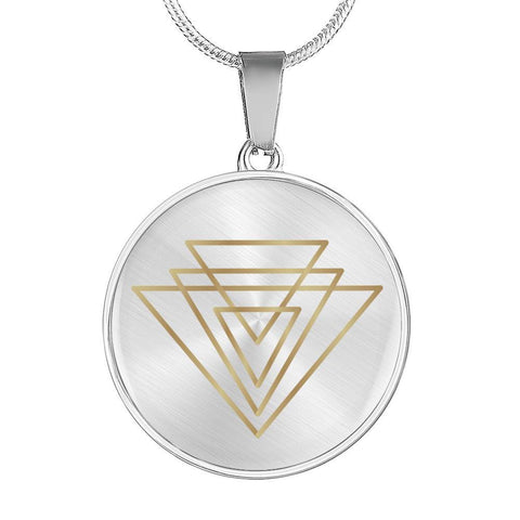 Magic of Psalm Symbol Round Pendant Necklace - Lyghtt