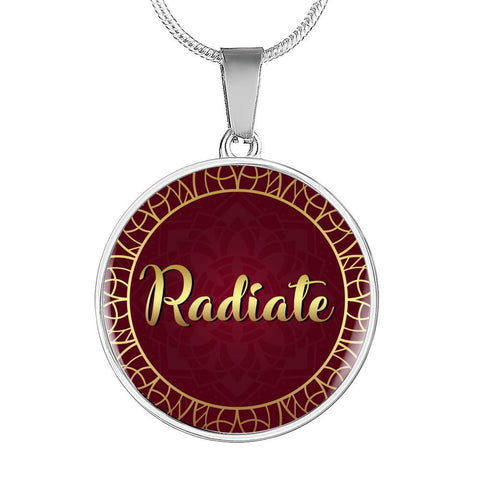 Radiate Circle Style Necklace - Lyghtt
