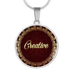Creative Circle Style Charm Necklace