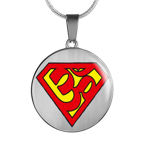 Super Om Symbol Pendant Necklace - Lyghtt