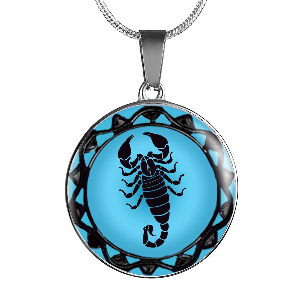 Scorpio Blue Zodiac Sign Pendant Necklace