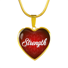 strength words of affirmation charm necklace, omfinite