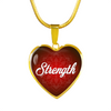 Image of strength words of affirmation charm necklace, omfinite