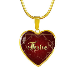 thrive heart style gold charm necklace