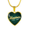 Image of Happiness Heart Style Gold Charm Necklace - Lyghtt
