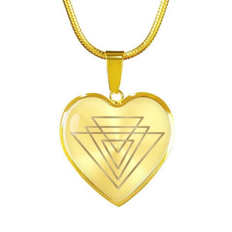 Magic of Psalm Symbol Heart Pendant Necklace