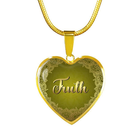 truth heart style charm necklace, omfinite