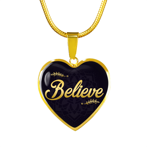 Believe Heart Style Charm Necklace - Lyghtt