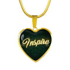 Inspire Heart Style Gold Charm Necklace - Lyghtt
