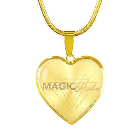 Magic of Psalm Logo Heart Pendant Necklace