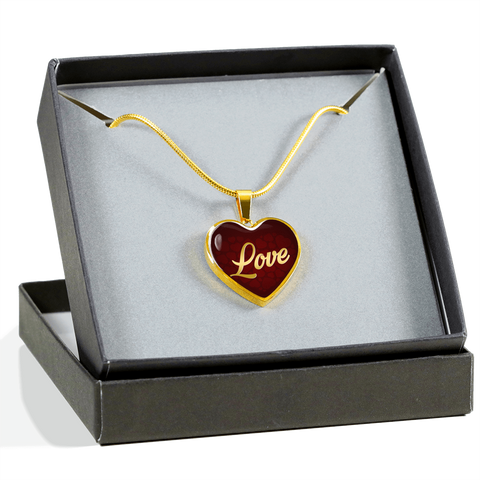 Love Heart Style Gold Charm Necklace - Lyghtt
