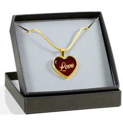 Love Heart Style Gold Charm Necklace