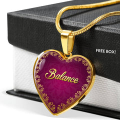 Balance Heart Style Charm Necklace