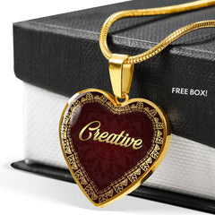 Creative Heart Style Charm Necklace