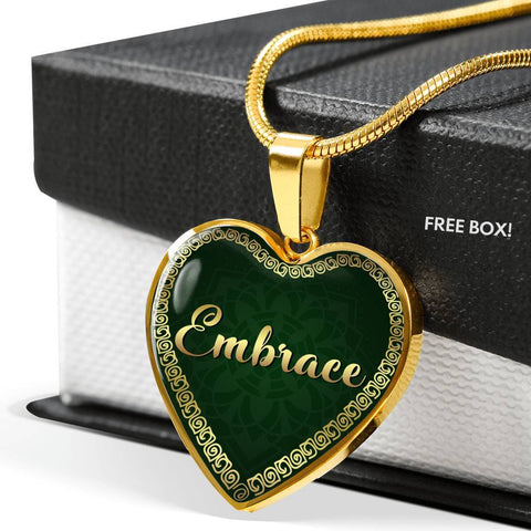 Embrace Heart Style Gold Necklace - Lyghtt