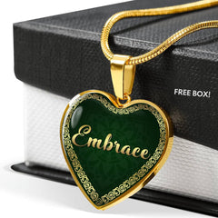Embrace Heart Style Gold Necklace